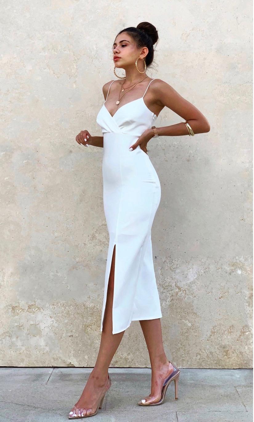 Elegantes Kleid in weiß